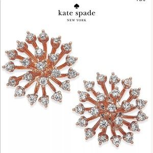 NWT Kate Spade 14K Rose Gold With Crystals  Studs